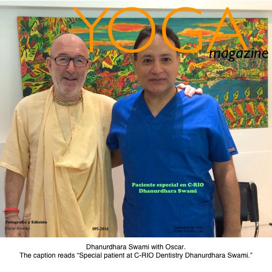 Dhanurdhara Swami with Oscar